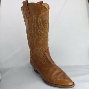 Joan & David Brown Leather Cowboy Western Boots